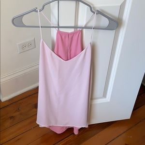 Reversible pink/light pink tank